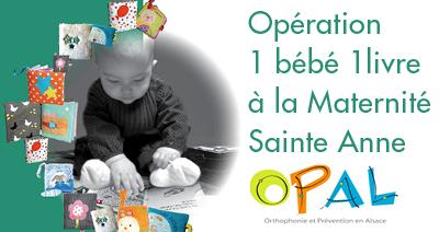 Opération 1 bébé 1 livre à la maternité Sainte Anne